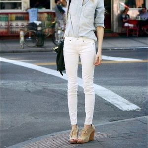 Madewell Skinny Ankle Jeans I'm Pure White